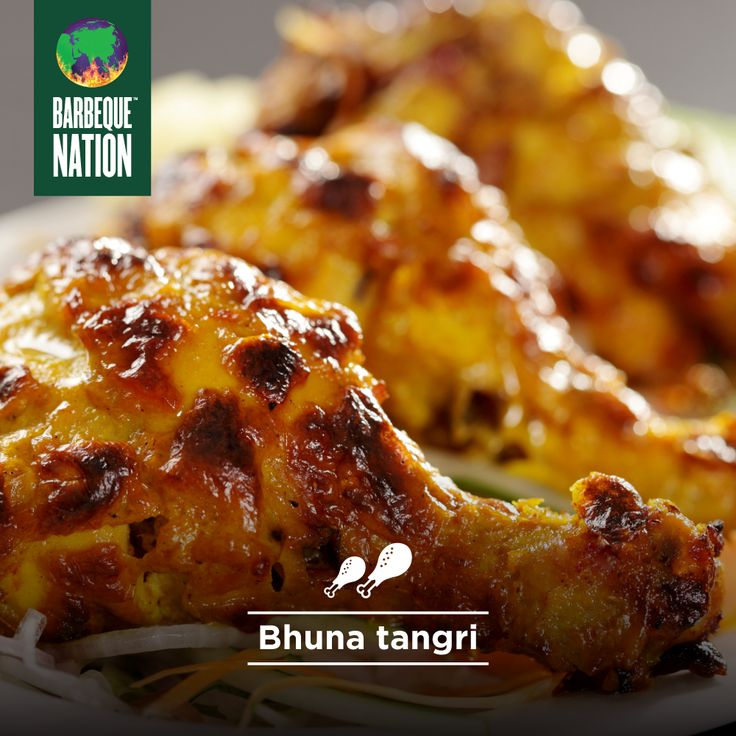 These irresistible leg-pieces of chicken are enough to make you drool. #comefeastwithus at Barbeque Nation to have a bite of this.  Download the Barbeque Nation Mobile App now.  #bbq #chicken #barbequenation #barbeque #bbqn #barbecue #foodies #instafood #foodlovers