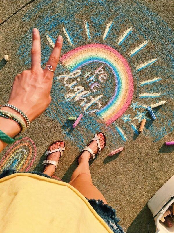 Vsco Relatablemoods Sidewalk Chalk Art Chalk Art Sidewalk Art