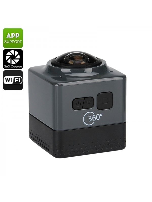 360 Degree Wi-Fi Action Camera (Black)