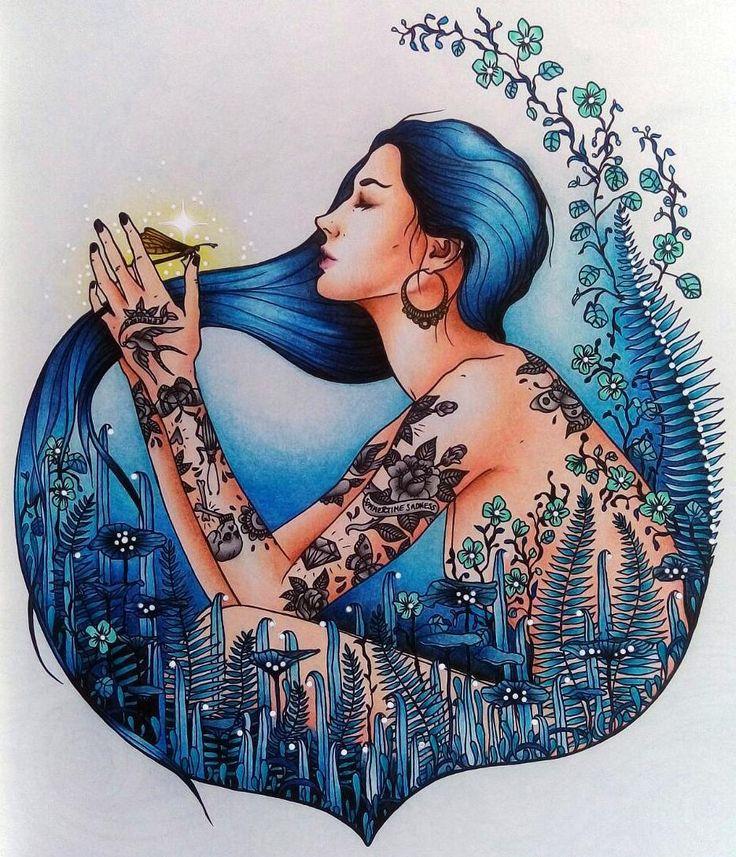 Done... ☺ #hannakarlzon #dagdrömmar #dagdrommar #daydreams #podmesnivat #omalovanky #målarbok #adultcoloring #adultcoloringbook #coloringbook #coloring #art #relax #antistresstherapy #arttherapie #kohinoor #kohinoormondeluz #mondeluz #bluehair #blue #colorful #tattoo #tattoogirl #dragonfly #bayan_boyan #boracolorirtop #arte_e_colorir #divasdasartes #coloringtoolkit #fangcolorfulworld