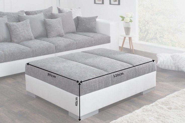 Hocker Zum Sofa Big Sofa Island Weiss Grau Strukturstoff Charcoal In 2020 Big Sofas Modern Couch Sofa
