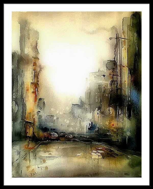 Calle Abstracta Framed Print by Galeria Trompiz in 2020