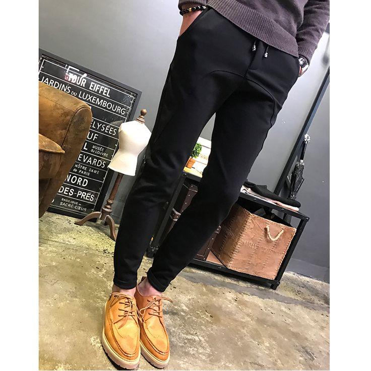 ==> [Free Shipping] Buy Best 2016 Winter Men Casual Pants Hip Hop Korean Fashion Thick Harem pantalones hombre Slim Fit Sweatpant Trousers Men Black Design Online with LOWEST Price | 32771102245