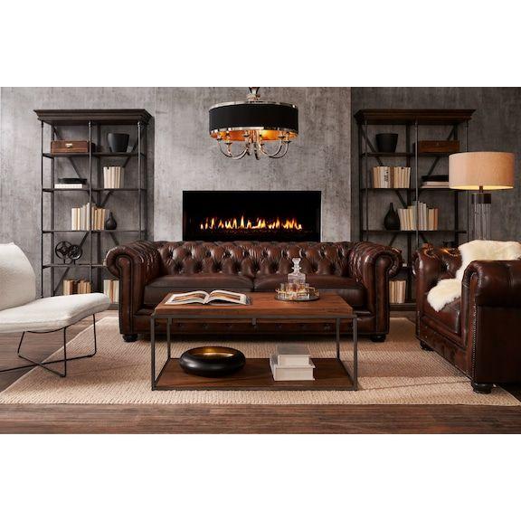 Lexington Sofa Leather American Signature Furniture