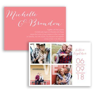 Accent on Love - Photo Wedding Invitation - Modern Typography, Fun at Invitations By David's Bridal
