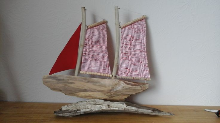 Made from driftwood found in Morecambe Bay.