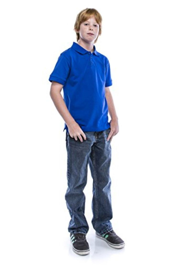 ALL Polo Little Boy's Short Sleeve 3 Button Plain Polo Shirts for Boys, Size 6, Royal - Brought to you by Avarsha.com