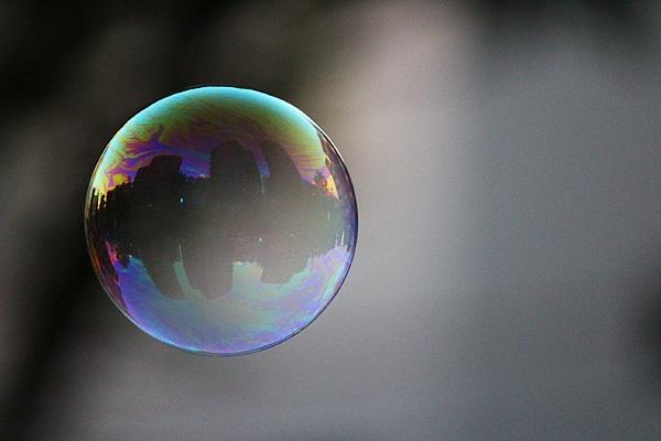 A soap bubble. Photo by Tojo