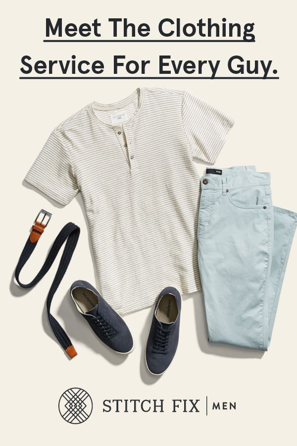 Want handpicked clothes delivered to your door? Okay. Done. We will send you 5 items to try on at home. Keep the ones you like. Return the ones you don't. We will even cover the shipping costs. Getting started is easy at StitchFix.com/men.