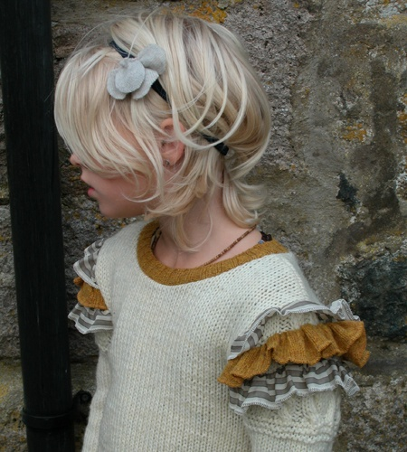 Flower Hairband, Ruffle Jumper (by nixie clothing)
