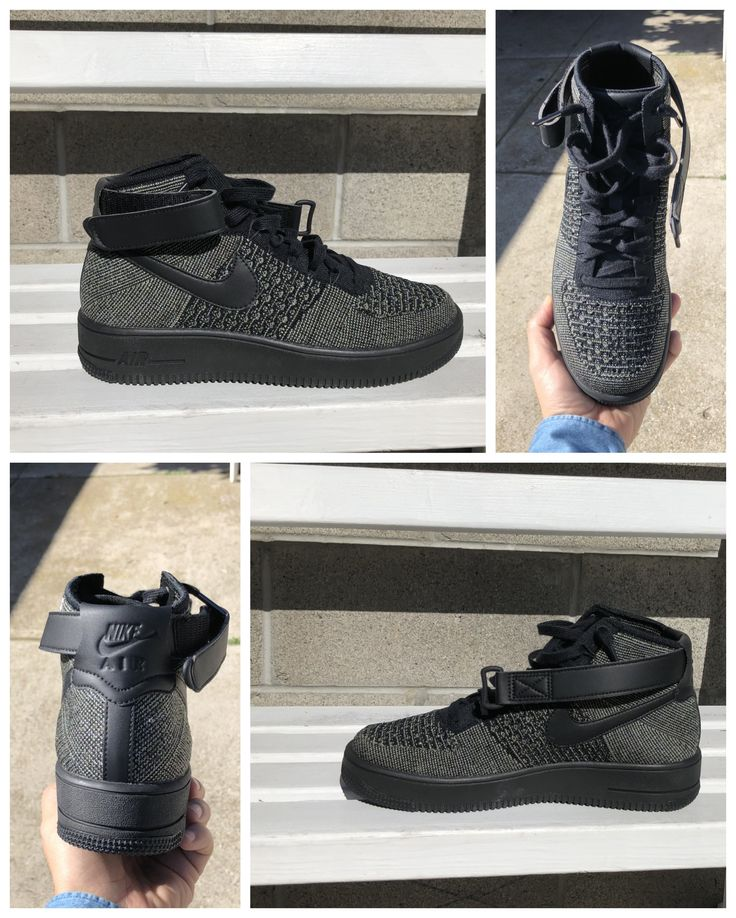Nike Air Force 1 Mid, Nike Air Force One Flyknit Mid, AF1 PALM GREEN