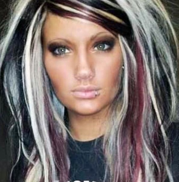 Red, black, & platinum highlights! Absolutely amazing!