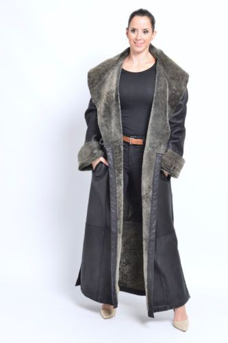 LAMB-LEATHER-FUR-COAT-Black-shearling-pelzmantel-casaco-de-pele-swakara