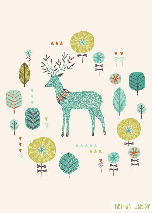forest deer   bethan janine