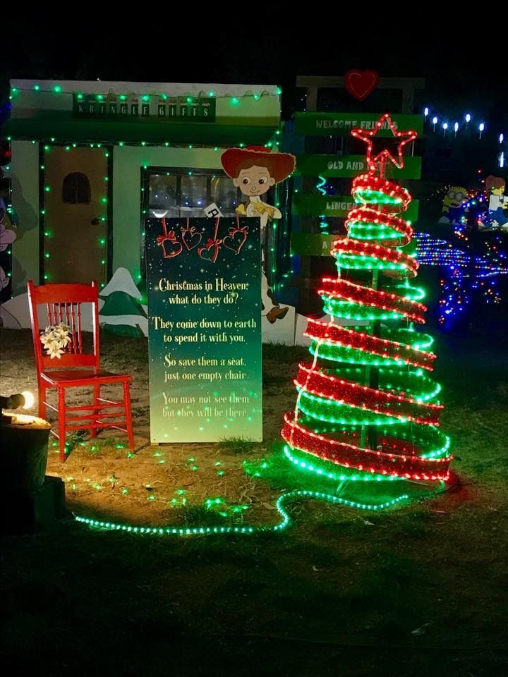 Christmas Wonderland Loxton memorial for those who have left us