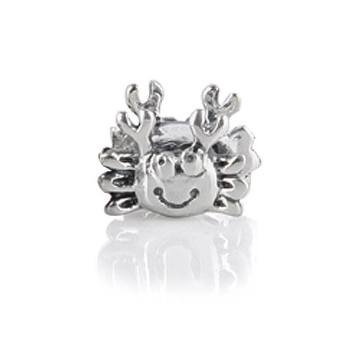 $16.99 Add this cute two sided Crab Sterling Silver Animal Bead your Pandora charms and Pandora beads collection. Made from .925 Sterling Silver this Pandora charm sports a happy smile. This is a perfect addition to your animal, beach or ocean themed Italian style charms that fit Pandora bead bracelets. With a wide range of available patterns such as crystal beads, glass beads, birthstone beads, heart beads, charm beads, kids beads...