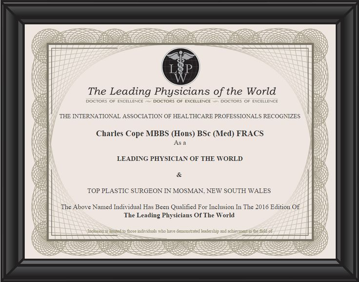 Leading Physicians of the World Certificate for 2016