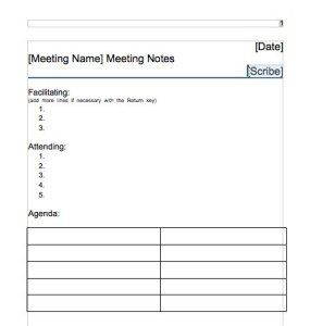 Best Meeting Minutes Templates Images On   Role