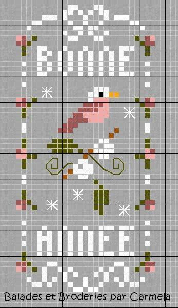 272 best images about point de croix grilles gratuites free pattern cross stitch on pinterest - Point croix grilles gratuites ...