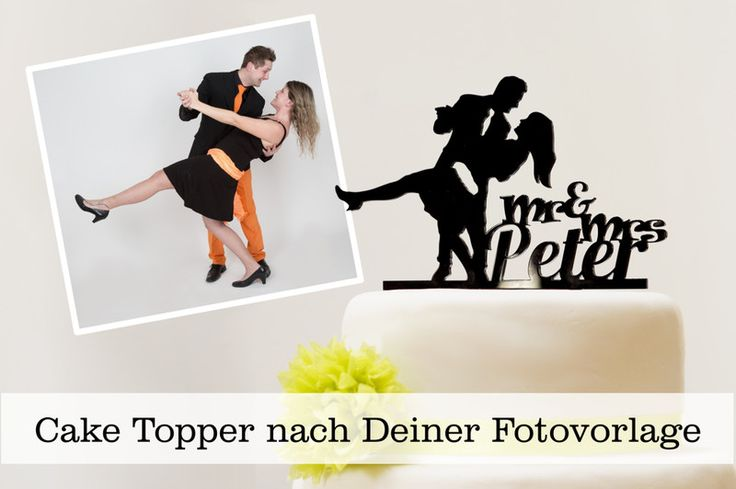 Hochzeitsdeko - Cake Topper nach deinem Foto als Vorlage - ein Designerstück von Fotogruesse bei DaWanda