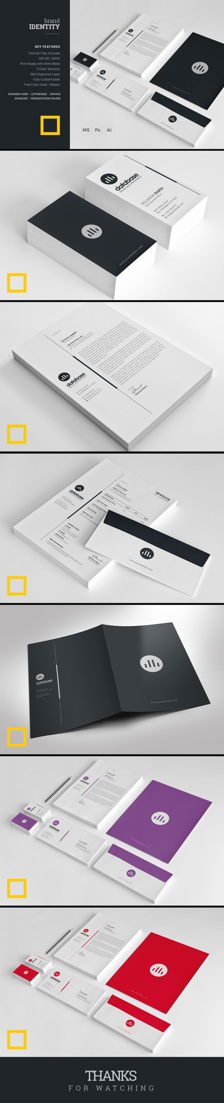 This brand identity is very much modern and elegant and it will definitely attract your prospective clients. This Modern and Essential Brand Identity Pack with minimal and clean look will create a fresh impression of your business which is essential for your corporate branding.