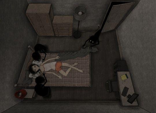 """Sleep Paralysis"" by Jay Kelly on #INPRNT - #illustration #print #poster #art"