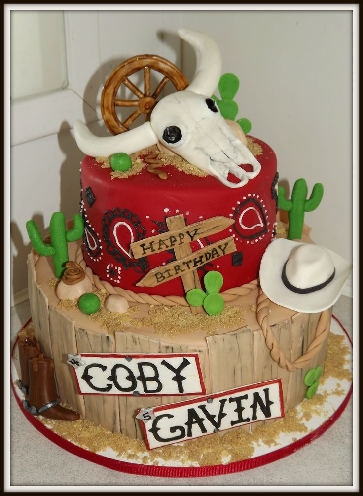 Western cake - western cake for my nephews. lots of inspiration from CC