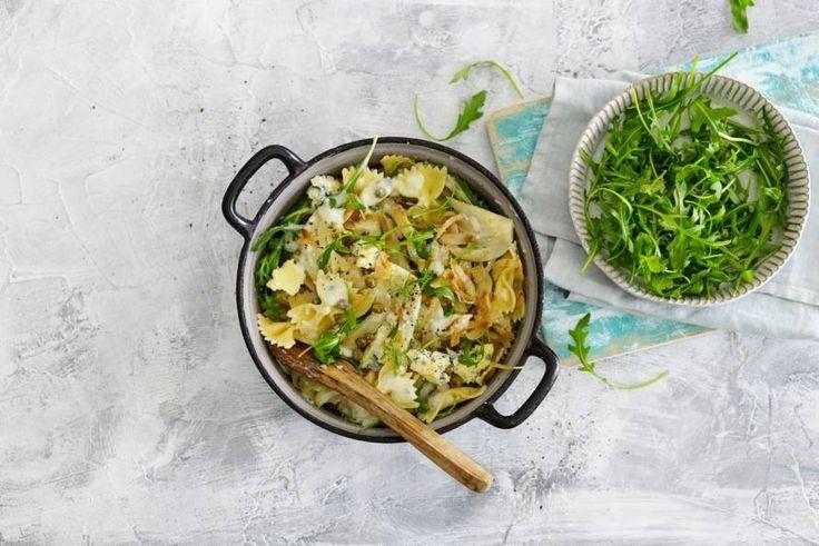 19 oktober - Farfalle + blauwe kaas in de bonus = smullen van dit smakelijke pastagerecht! - Recept - Allerhande