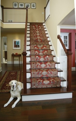 If we ever got hardwoods on main level....also open the staircasee up..... stair runner