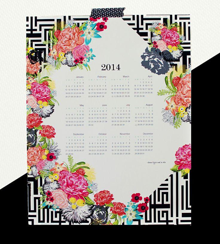 Michi Garden 2014 Canvas Wall Calendar