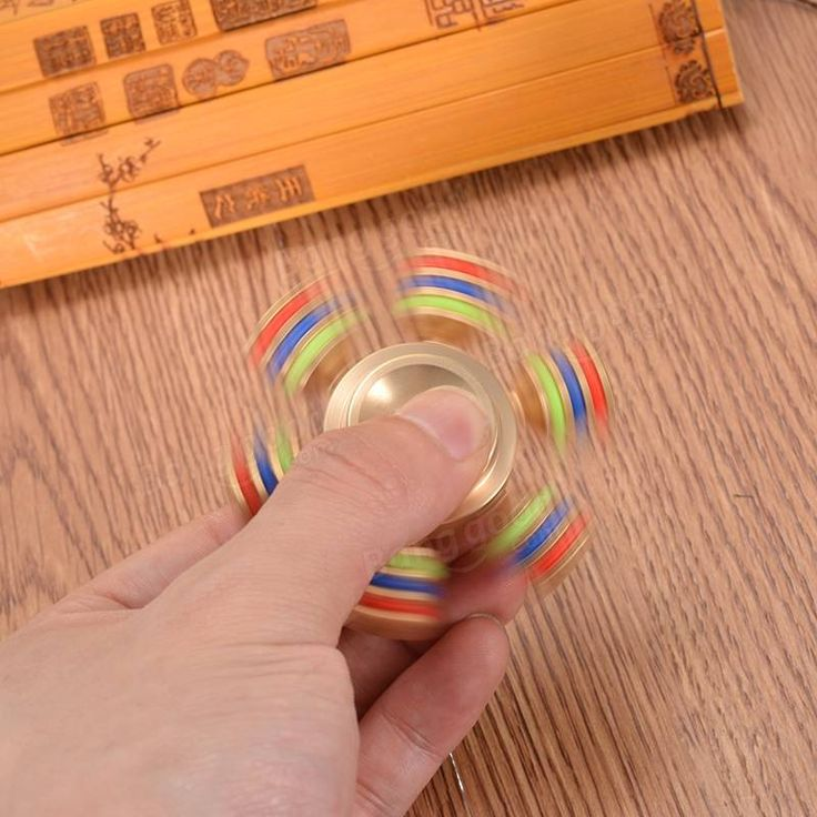 Hexagonal latão Girando Fidget Hand Spinner TDAH Autismo Dedo Finger Gyro Reduzir Brinquedos de Stress