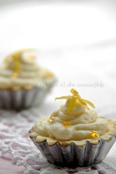 Tartellette al cioccolato bianco e limone