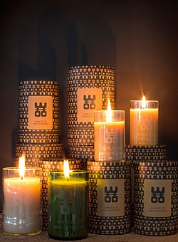 A WOO candle is made using simple resources: our hands, recycled bottles, pure beeswax, high quality fragrances and passion. Handmade in Asia, our premium product gives you up to 100 hours of fragrance and light, and helps to light up the lives of the people who made them.  Burn time: Large up to 100 hours, and Medium up to 50 hours.