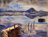 Karl Schmidt-Rottluff Lebasee mit Revekol, 1934 Aquarell und Tusche 53 x 69 cm Brücke-Museum Berlin