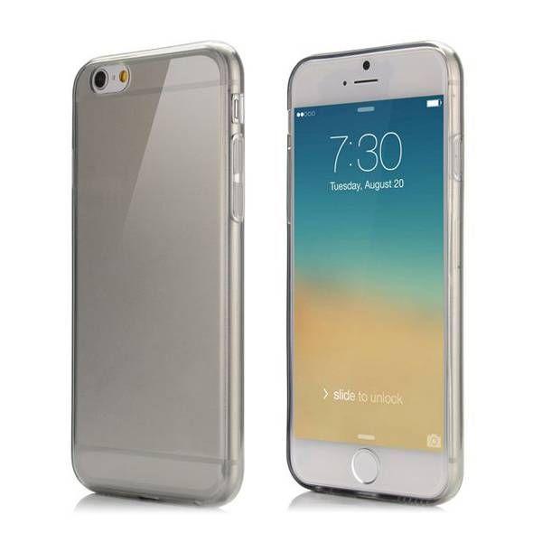 Zwart / transparant TPU hoesje voor iPhone 6 Plus