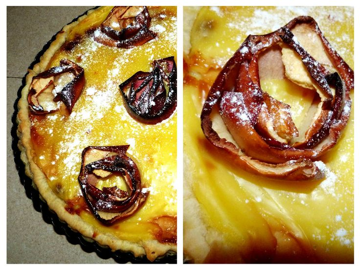 Apple and vanilla cake