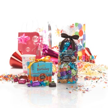 8 best gift baskets images on pinterest chocolate gifts seattle chocolates happy birthday surprise gift basket negle Choice Image