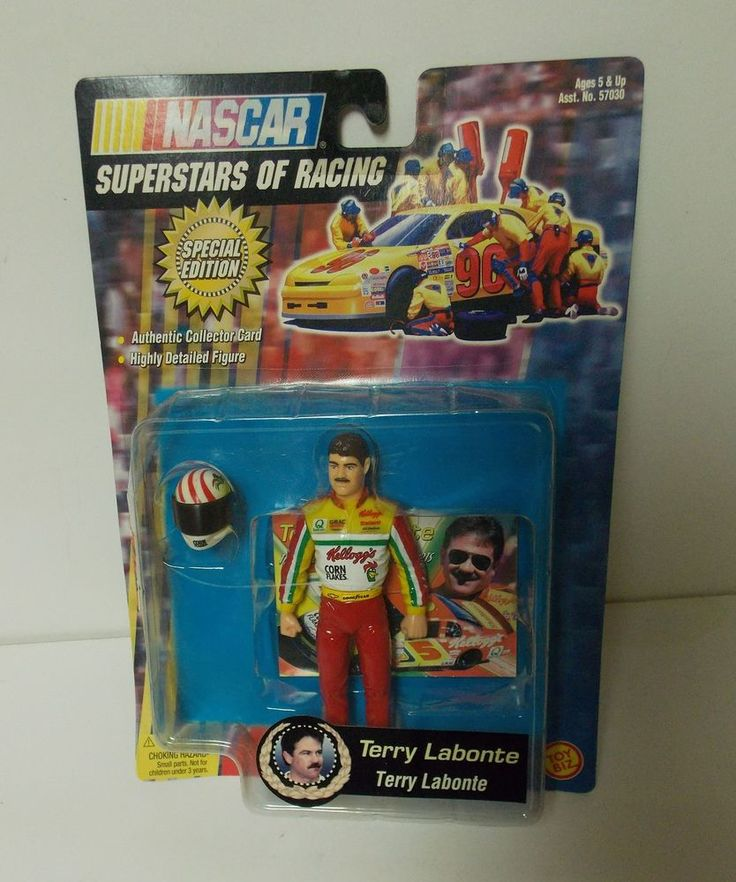 NASCAR #5 TERRY LABONTE ACTION FIGURE NEW IN PACKAGE #TOYBIZ #KELLOGGS