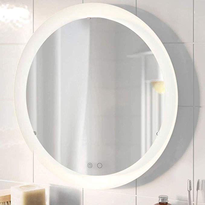 Amazon Co Jp Beautme Led化粧鏡 壁掛け式 2色ライトモード 明るさ調整可能 Ledミラー ドレッサー 洗面台 浴室など適用 ホワイト ビューティー 2020 鏡 壁掛け 化粧鏡 鏡