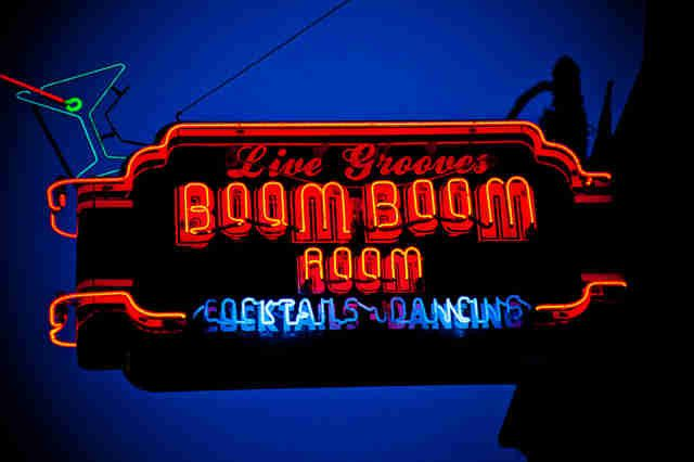 The Boom Boom Room, the oldest blues club west of the Mississippi.
