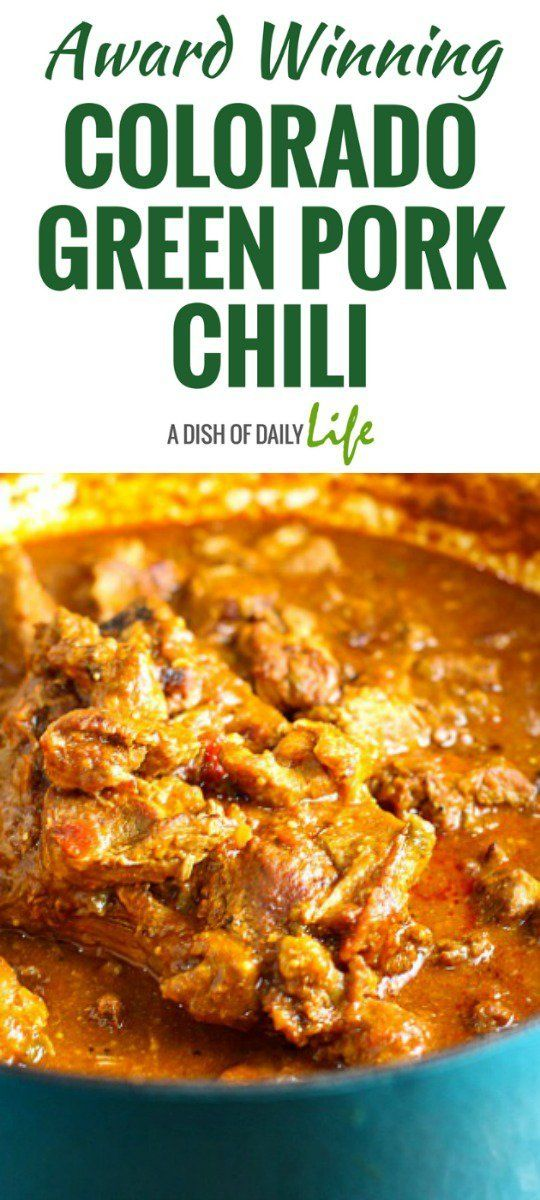 This Award Winning Colorado Green Pork Chili is delicious and comforting, packed with flavor and tender chunks of pork! It's perfect for a chilly evening or game day. You need this chili recipe in you