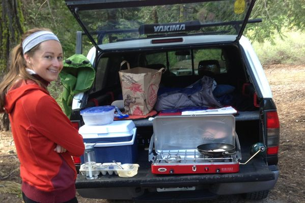 suzanne-making-breakfast | Tacoma Truck Camping | Pinterest