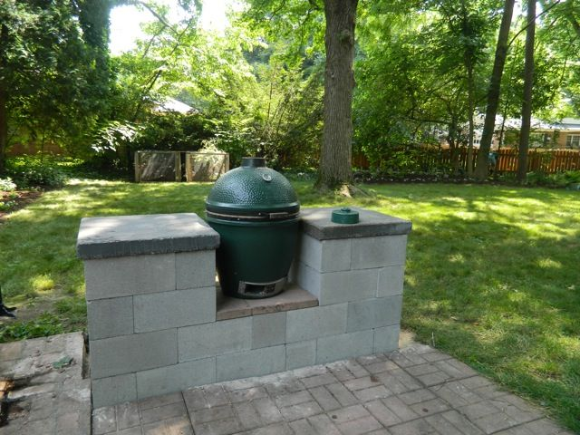 Best 25 big green egg table ideas on pinterest for Block outdoor kitchen