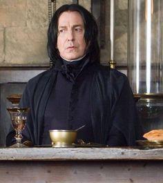 Professor Severus Snape as played by Alan Rickman