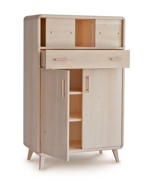 100 % massif wood lime cabinet by elisabethleroy1 on Etsy