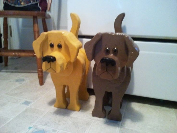 Layered wooden dogs $35.00 each