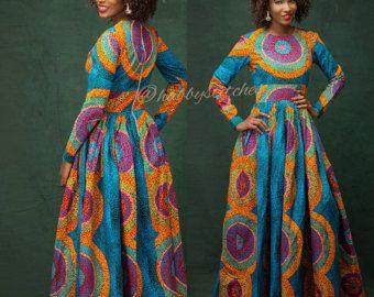 Sandra Maxi dress with pockets, African dress, Long African dress, Maxi African dress, Ankara dress, African wax fabric, African fabric