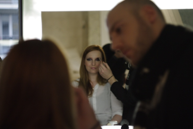 #dioriconicevent @Olga from Jangsty Diary having her makeup session.