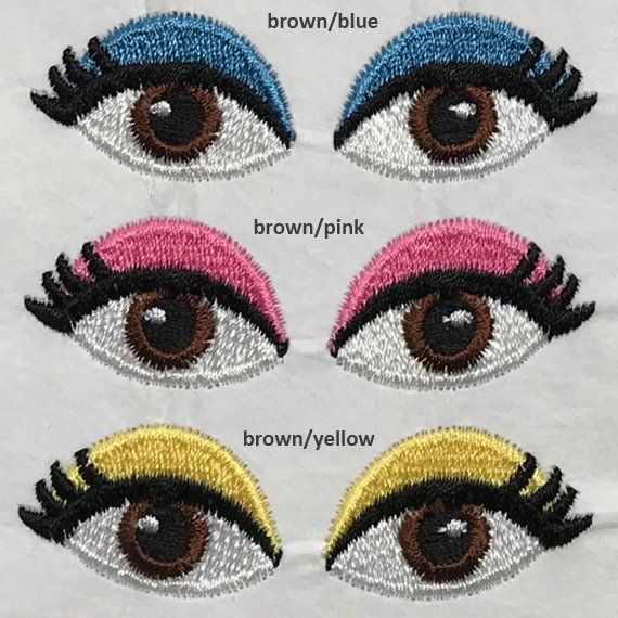 Embroidery Amigurumi Eyes - Russian Phototutorial here: handmade ... | 570x570