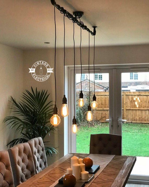 The Burnham 6 X Pendant Drop Light Hanging Lights Ceiling Dining